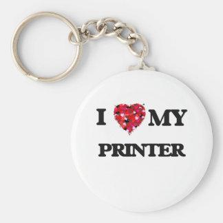 I love my Printer Basic Round Button Key Ring