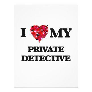 I love my Private Detective 21.5 Cm X 28 Cm Flyer