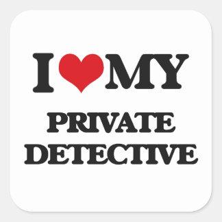 I love my Private Detective Sticker