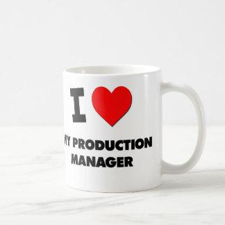 I love My Production Manager Basic White Mug