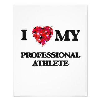 I love my Professional Athlete 11.5 Cm X 14 Cm Flyer