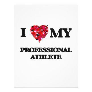 I love my Professional Athlete 21.5 Cm X 28 Cm Flyer
