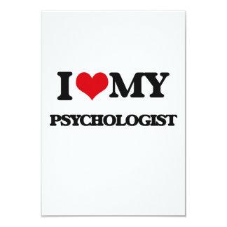 I love my Psychologist 9 Cm X 13 Cm Invitation Card