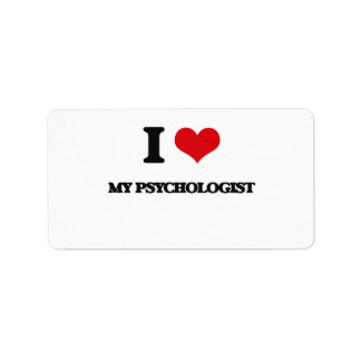 I Love My Psychologist Address Label