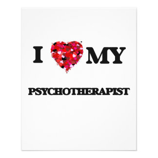 I love my Psychotherapist 11.5 Cm X 14 Cm Flyer