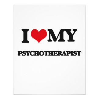 I love my Psychotherapist Flyers