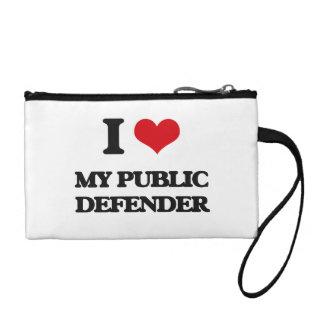 I Love My Public Defender Coin Wallet