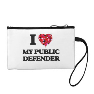 I Love My Public Defender Coin Wallets