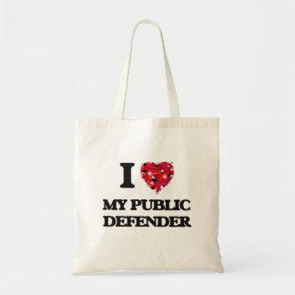 I Love My Public Defender Budget Tote Bag