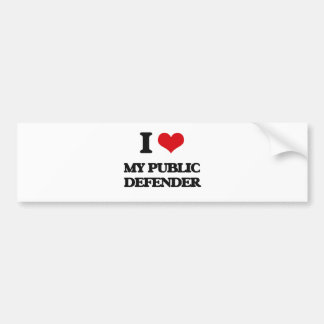 I Love My Public Defender Car Bumper Sticker