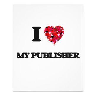 I Love My Publisher 11.5 Cm X 14 Cm Flyer