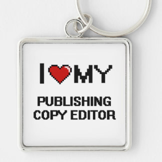 I love my Publishing Copy Editor Silver-Colored Square Key Ring