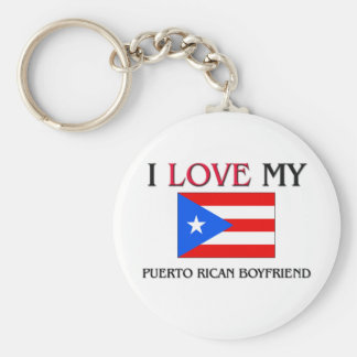 I Love My Puerto Rican Boyfriend Basic Round Button Key Ring