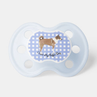 I Love My Puffin Dog on Blue Gingham Dummy