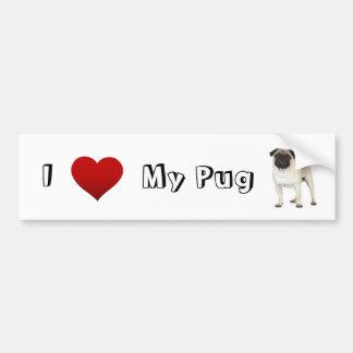 i love my pug (2) bumper sticker