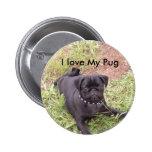 I love My Pug Button