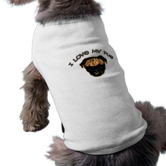 I love my Pug Sleeveless Dog Shirt