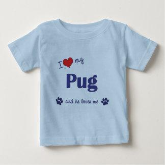 I Love My Pug (Male Dog) Baby T-Shirt