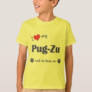 I Love My Pug-Zu (Male Dog) T-Shirt