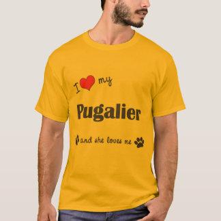 I Love My Pugalier (Female Dog) T-Shirt
