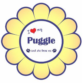 I Love My Puggle (Female Dog) Photo Sculpture Decoration