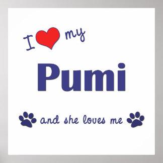 I Love My Pumi Female Dog Posters