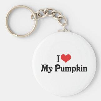 I Love My Pumpkin Key Ring
