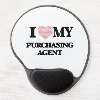 I love my Purchasing Agent (Heart Made from Words) Gel Mouse Pad