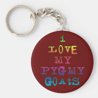 I Love My Pygmy Goats Basic Round Button Key Ring