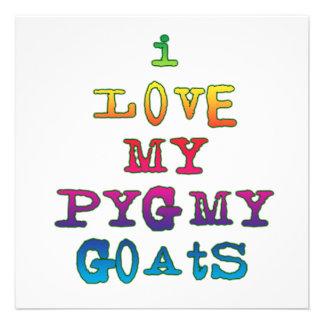 I Love My Pygmy Goats Custom Invitations