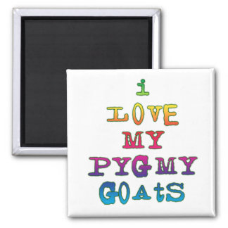 I Love My Pygmy Goats Square Magnet