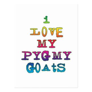 I Love My Pygmy Goats Postcard