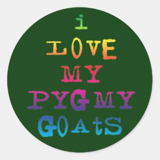 I Love My Pygmy Goats Round Sticker