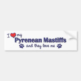 I Love My Pyrenean Mastiffs (Multiple Dogs) Bumper Sticker