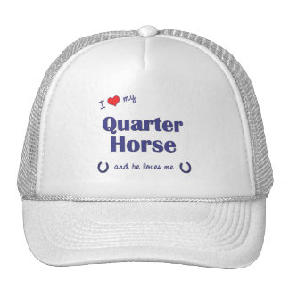 I Love My Quarter Horse (Male Horse) Mesh Hat