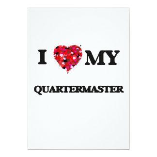 I love my Quartermaster 13 Cm X 18 Cm Invitation Card