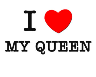 i love my queen coffee mug