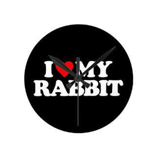 I LOVE MY RABBIT CLOCKS