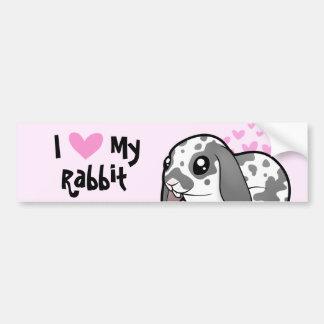 I Love My Rabbit (floppy ear smooth hair) Bumper Sticker