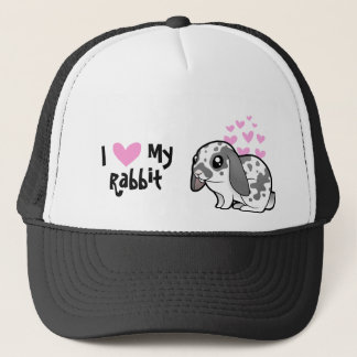 I Love My Rabbit (floppy ear smooth hair) Trucker Hat