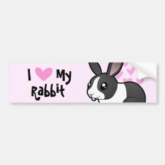 I Love My Rabbit (uppy ear smooth hair) Bumper Sticker