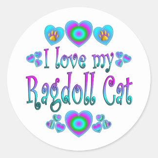 I Love My Ragdoll Cat Classic Round Sticker