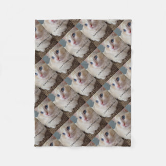 I Love My Ragdoll Cat Fleece Blanket