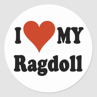 I Love My Ragdoll Cat Merchandise Classic Round Sticker