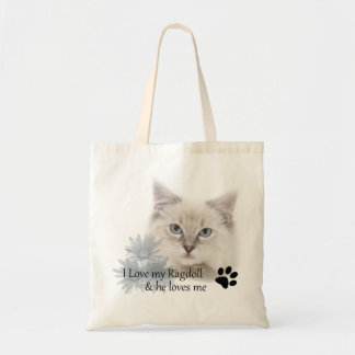 I love my ragdoll tote bag