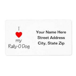 I Love My Rally-O Dog Shipping Label