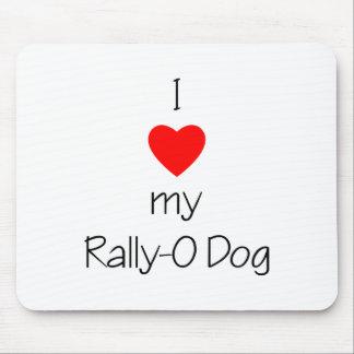 I Love My Rally-O Dog Mouse Pads