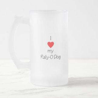 I Love My Rally-O Dog Mugs