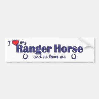 I Love My Ranger Horse (Male Horse) Car Bumper Sticker