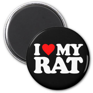 I LOVE MY RAT MAGNET